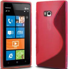 Красный силиконовый чехол для Nokia Lumia 900