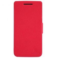 Красный чехол книжка Nillkin для Lenovo Vibe X