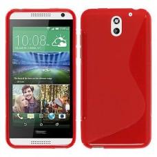 Красный силиконовый чехол для HTC Desire 610