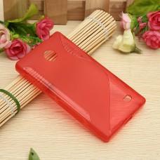 Красный силиконовый чехол для Nokia X