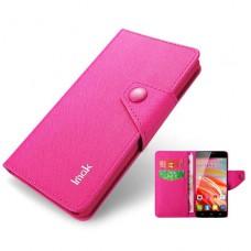 Розовый чехол книжка IMac для Alcatel One Touch Idol(6030D)