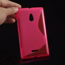 Красный силиконовый чехол для Nokia XL