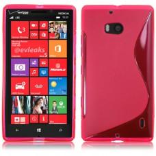 Красный силиконовый чехол для Nokia Lumia 930