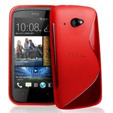 Красный силиконовый чехол для HTC Desire 601