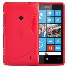 Красный силиконовый чехол для Nokia Lumia 520/525