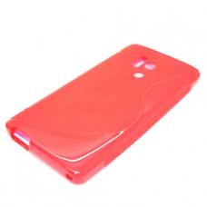 Красный силиконовый чехол для Huawei Honor 3