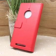 Красный чехол книжка для Nokia Lumia 830