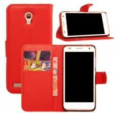 Красный чехол - книжка для Asus Zenfone 5