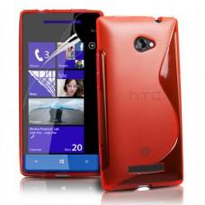 Красный силиконовый чехол для HTC 8S