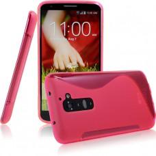 Красный силиконовый чехол для LG G2