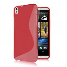 Красный силиконовый чехол для HTC Desire 800/816
