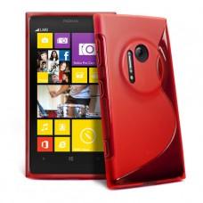 Красный силиконовый чехол для Nokia Lumia 1020