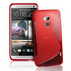 Красный силиконовый чехол для HTC One Max