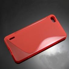 Красный силиконовый чехол для Huawei Honor 6