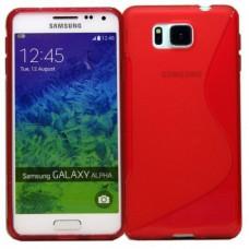 Красный силиконовый чехол для Samsung Galaxy Alpha
