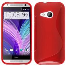 Красный силиконовый чехол для HTC One mini 2