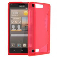 Красный силиконовый чехол для Huawei Ascend G6