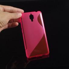 Красный силиконовый чехол для Xiaomi mi4