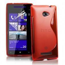 Красный силиконовый чехол для HTC 8X