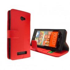 Красный чехол книжка для HTC Windows Phone 8X