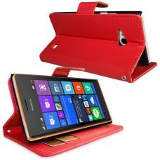 Красный чехол книжка для Nokia Lumia 730/735
