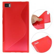 Красный силиконовый чехол для Xiaomi mi3