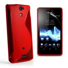 Красный силиконовый чехол для Sony Xperia V lt25i