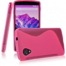 Красный силиконовый чехол для LG Nexus 5