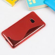 Красный силиконовый чехол для Nokia Lumia 535