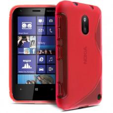 Красный силикноновый чехол для Nokia Lumia 620