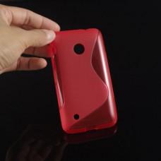 Красный силиконовый чехол для Nokia Lumia 530