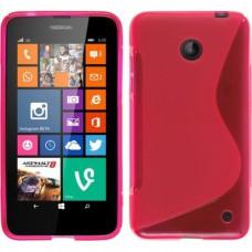 Красный силиконовый чехол для Nokia Lumia 630/635