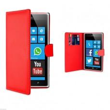 Красный чехол книжка для Nokia Lumia 720
