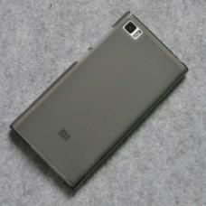Черный (темно-прозрачный) силиконовый чехол для Xiaomi mi3