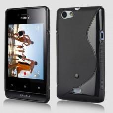 Черный силиконовый чехол для Sony Xperia Miro