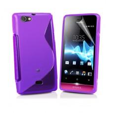 Фиолетовый силиконовый чехол для Sony Xperia Miro ST23i