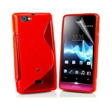 Красный силиконовый чехол для Sony Xperia Miro