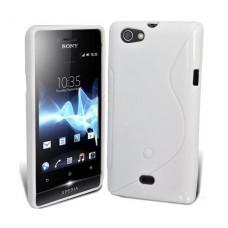 Белый силиконовый чехол для Sony Xperia Miro