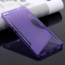 Синий силиконовый чехол для Huawei P8 Lite