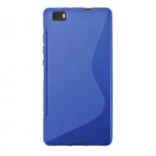 Синий силиконовый чехол для Huawei P8