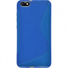 Синий силиконовый чехол для Huawei Honor 4X