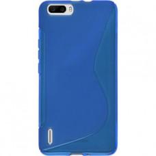 Синий силиконовый чехол для Huawei Honor 6 Plus