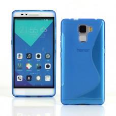 Синий силиконовый чехол для Huawei Honor 7