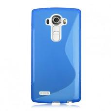Синий силиконовый чехол для LG G4