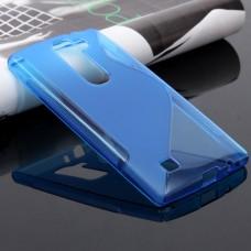 Синий силиконовый чехол для LG Magna