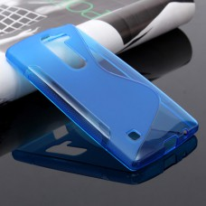 Синий силиконовый чехол для LG Spirit