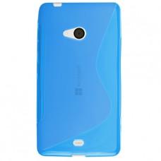 Синий силиконовый чехол для Microsoft Lumia 540