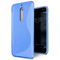 Синий силиконовый чехол для Nokia 5