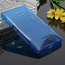 Синий силиконовый чехол для Nokia Lumia 435/532