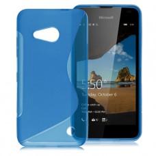 Синий силиконовый чехол для Nokia Lumia 550